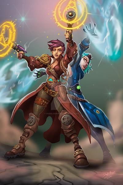 Luz and Amity in Wildstar
