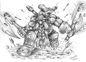 Dwarf of War by DOUGLASDRACO
