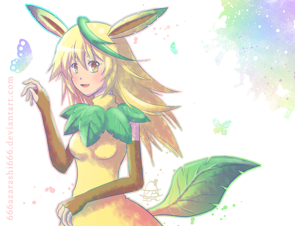 Pokemon-Leafeon by 666azarashi666