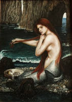 Mermaid based on Waterhouse painting by PiotrHarold