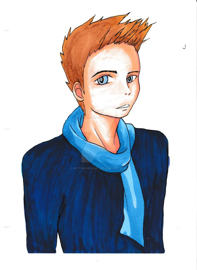 Blue sweater by Elf15