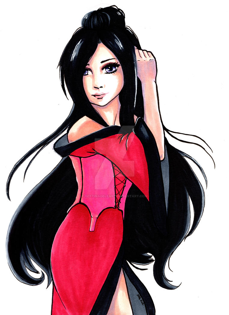 Red Kimono by Elf15