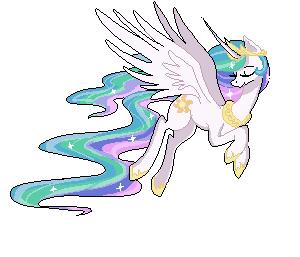 Princess Celestia - Pixel by Akemiarts1