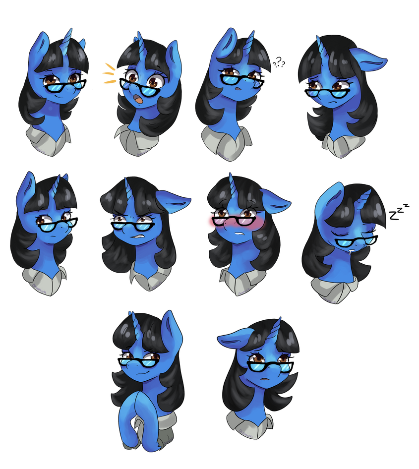 {Commission} Emotes for Mint Petal by Akemiarts1