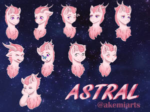 {Commission} Emotes for Astral by Akemiarts1