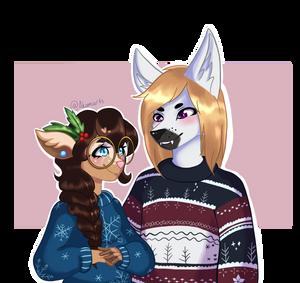 Christmas Sweaters by Akemiarts1
