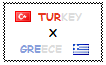 Stamp  Turkey X Greece by OttomanTurky