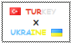 Stamp  Turkey X Ukraine by OttomanTurky