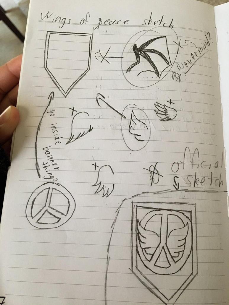 Wings of Peace sketch by HersheyKissLPS