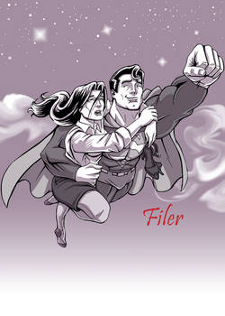 Clark and Lois by Flyler