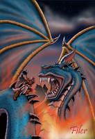Dragon Battle by Flyler