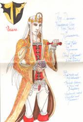 Sketch Royal Robes by DamonVonBohn