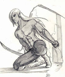 Young Drizzt by DamonVonBohn