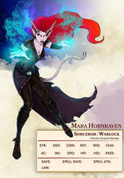 Tiefling Sorceror Warlock by Christopher-Manuel