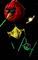 ANGRY BIRDS STAR WARS by Jigsawlacrimosa