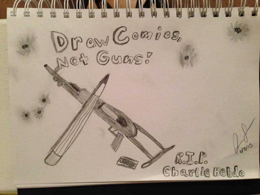 Draw Comics Not Guns by Lily-Lucid