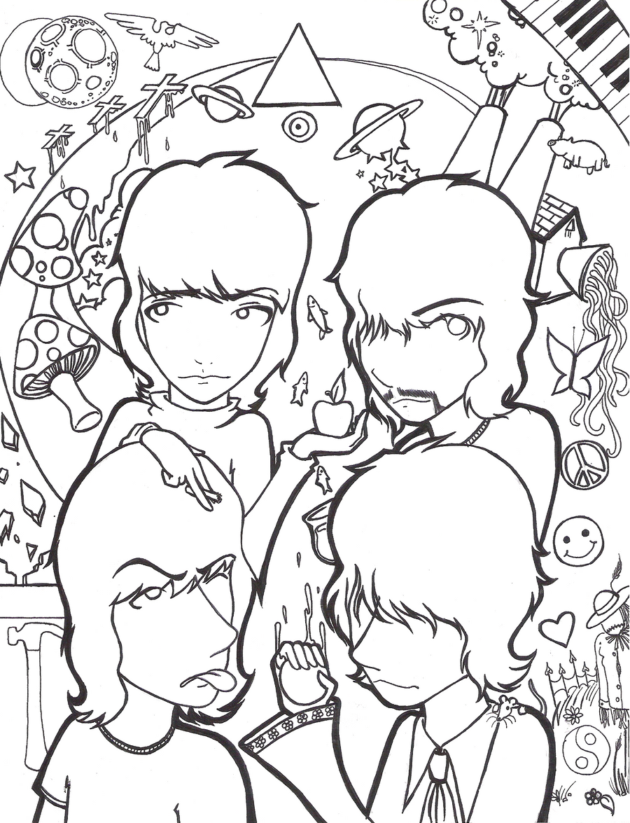 Pink floyd pages coloring pages for Pink coloring pages