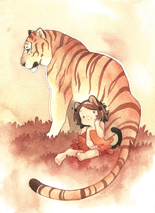 Cerise and Tiger by Rozenng
