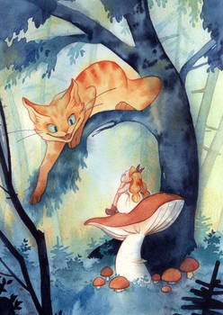 Alice and the Cheschire cat