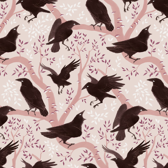 Crow pattern by Rozenng