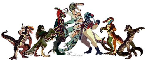 Dino Gang by Mantiscat