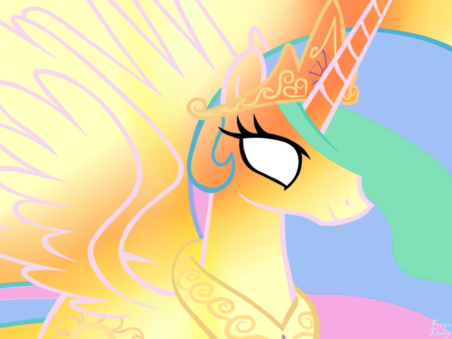 Princess Celestia by FreyaLeafy