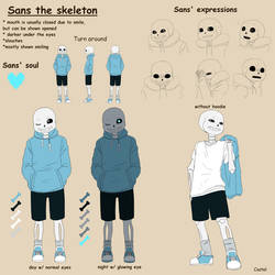 Sans the skeleton | Ref sheet by Castel-Eown