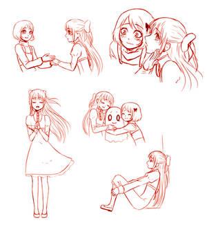 A few doodles of Newtale OCs