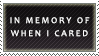In memory of stamp by barn-swallow