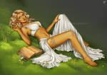 Commission: Sun Elf Tiyra