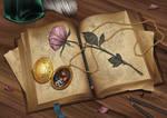Commission: Golden locket