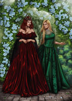 Commission: Madelynne and Brianna by barn-swallow