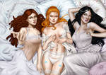 Commission: Vampire girls