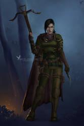 Commission: Lt. Alystoria Greencroft by barn-swallow