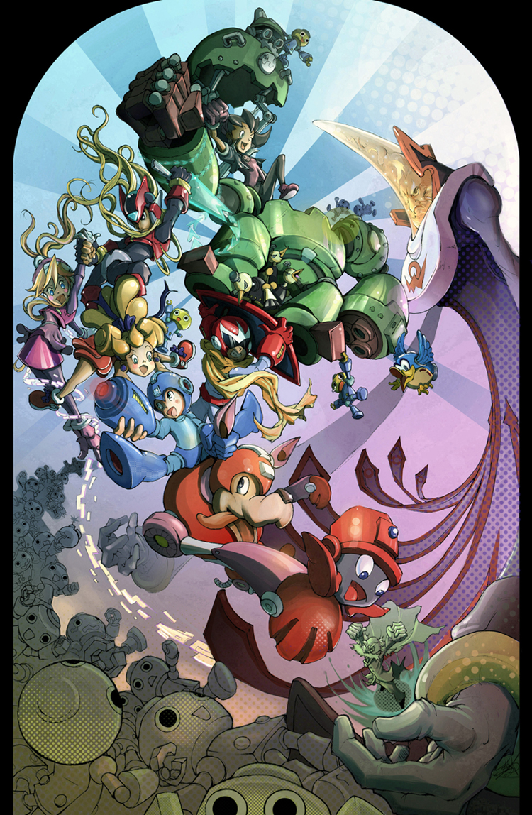 Mega Man Tribute by JohnDevlin