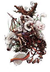 Princess Mononoke by JohnDevlin
