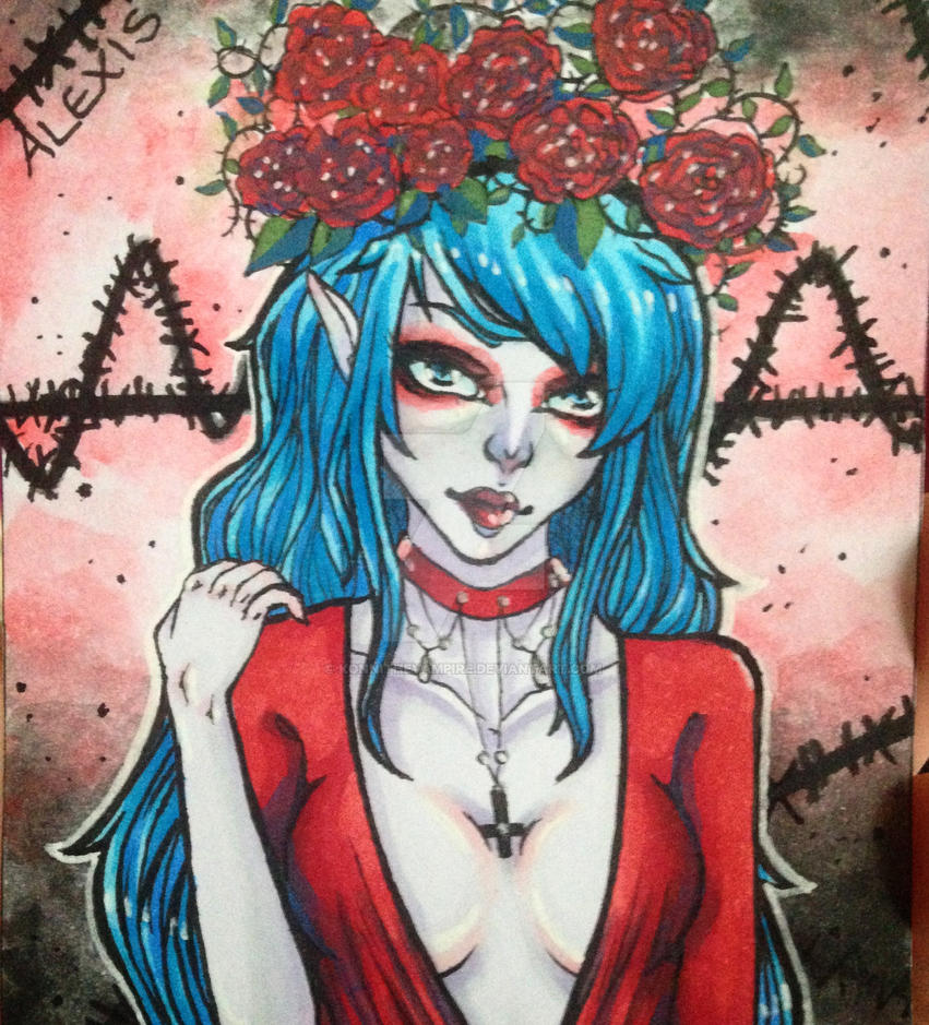 ACEO - Red Alexis by KonniTheVampire