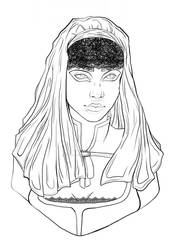 Goddess of the Void [LINEART]