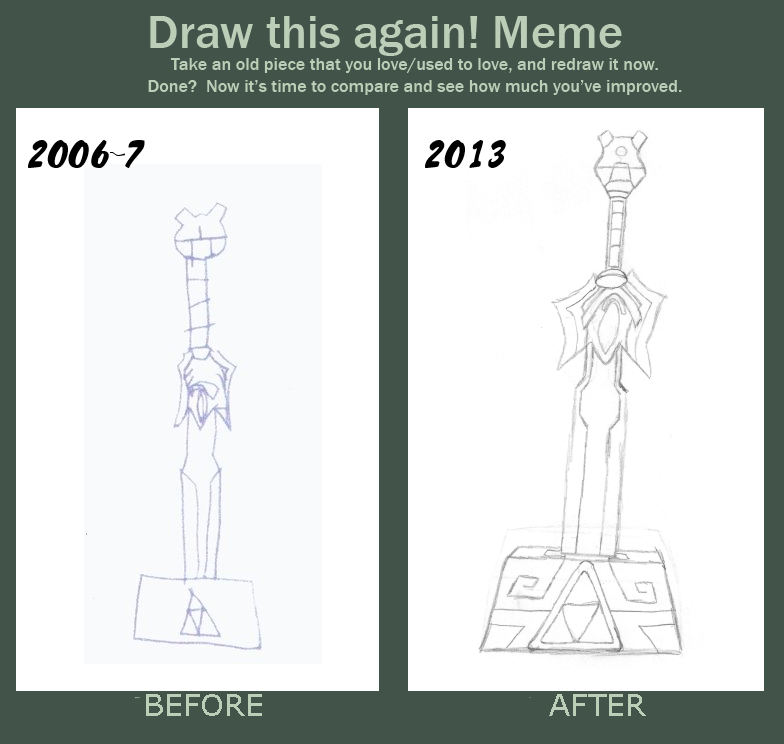 draw this again meme template - wind waker master sword draw it again meme by kainoblivion