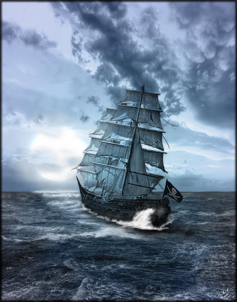 Pirate Ship on Rough Seas by ShireiVien on DeviantArt