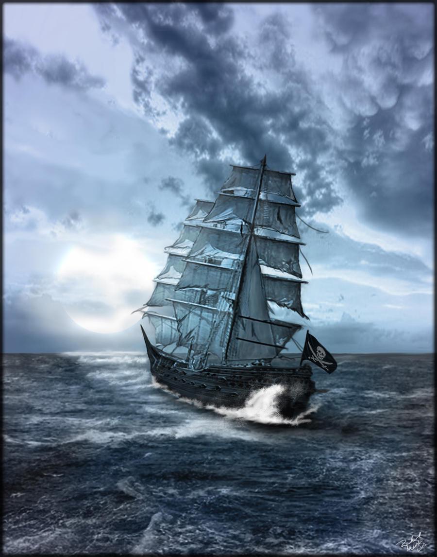 Pirate Ship on Rough Seas by ShireiVien on DeviantArt