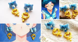 Handmade sailor Mercury Inspired Magical Earrings