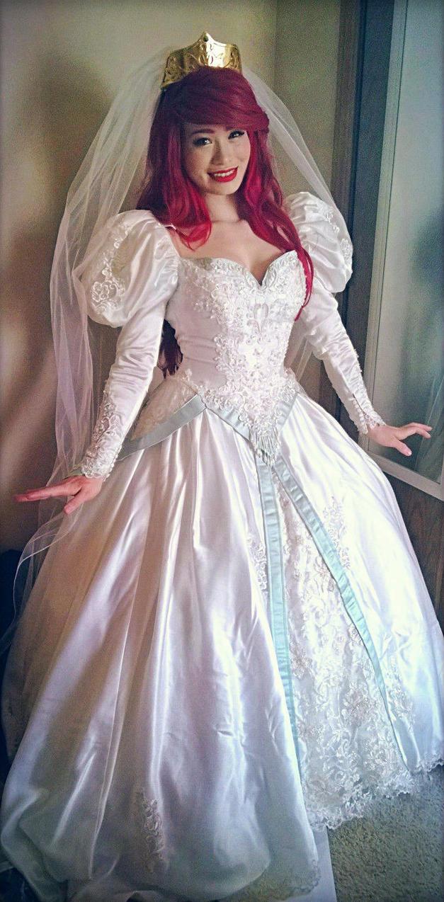 Ariel wedding dress by mayumi-loves-sora on DeviantArt