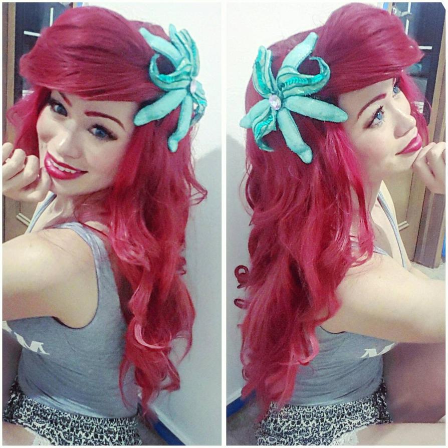 ariel flower hairclip  by mayumi-loves-sora