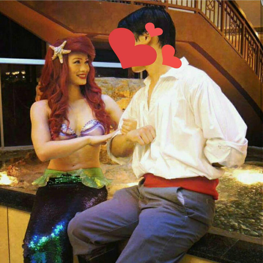 Ariel and Prince Eric  by mayumi-loves-sora