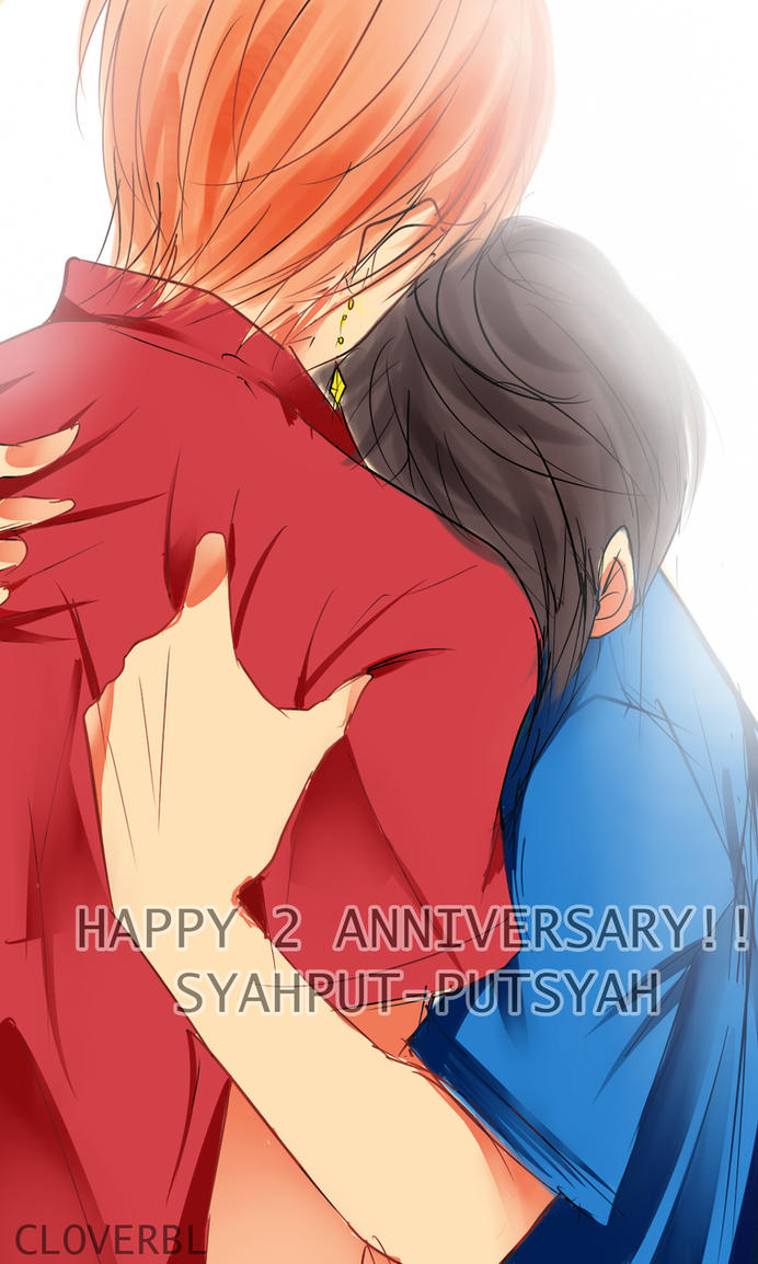 Happy 2 anniversary -syahput-putsyah by CLOVERBL