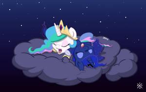 Sleepy Chibi Princesses by auro-ria