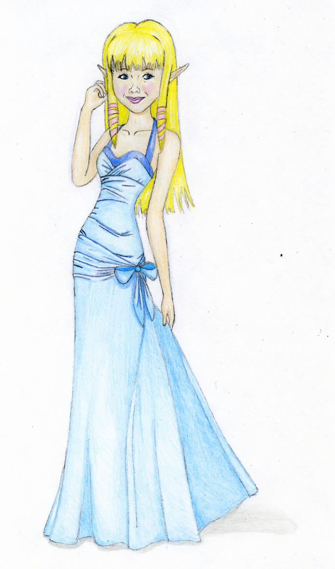 skyward zelda in a blue dress by 7essa on deviantart