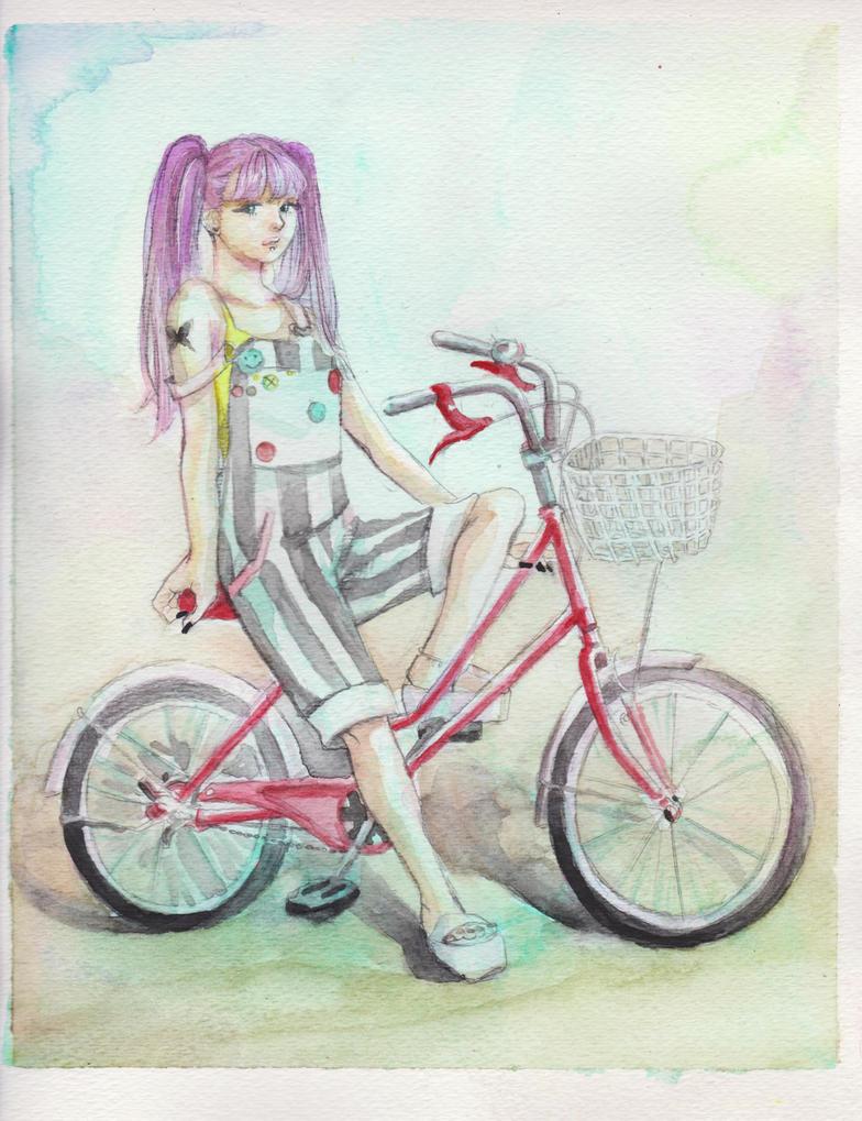 Bicycle Gal by ninoluva
