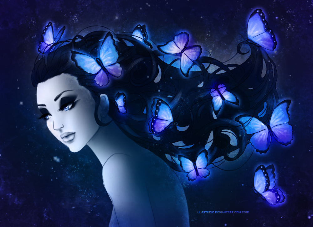 butterfly hair by lilacattis on deviantart